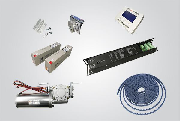 kit eletrônica porta de vidro